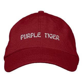 Gorra ajustable personalizado tigre púrpura gorro bordado