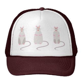 Gorra ajustable Rojo-Observado de las ratas