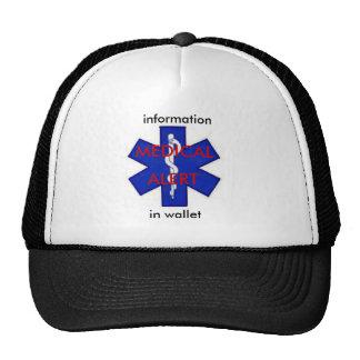 Gorra alerta médico del camionero