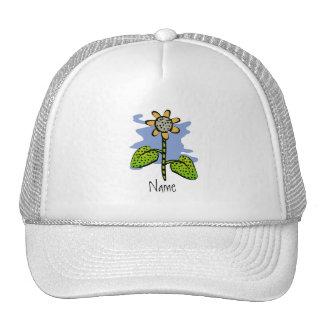 Gorra amarillo divertido de la flor