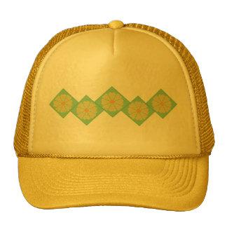 Gorra amarillo y verde de la frontera de la flor