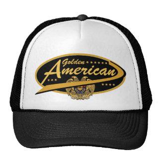 ¡Gorra americano de oro del camionero!