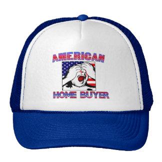 Gorra americano del comprador de vivienda