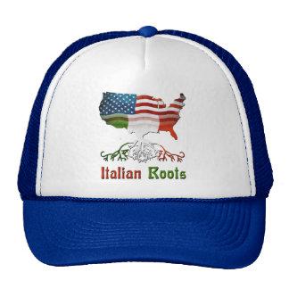 Gorra americano italiano de la ascendencia
