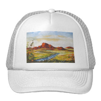 Gorra Ana Hayes que pinta la roca roja Canyan