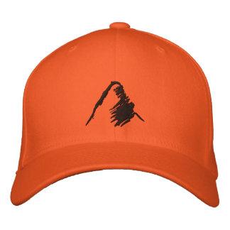 Gorra anaranjado con el logotipo negro bordado gorras bordadas