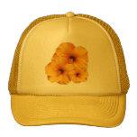 Gorra anaranjado de la flor del hibisco