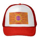 Gorra anaranjado del diseño del teñido anudado