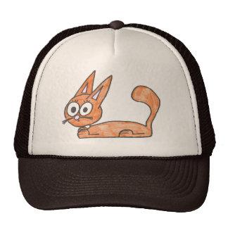 Gorra anaranjado del gato