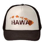 Gorra anaranjado marrón de las islas de Hawaii