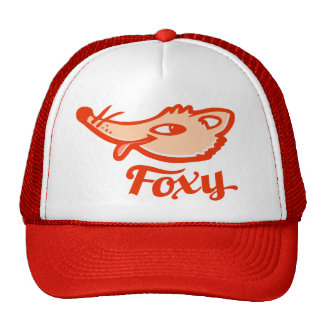 Gorra anaranjado rojo del logotipo del zorro astut