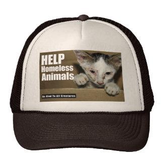 Gorra animal sin hogar de la ayuda
