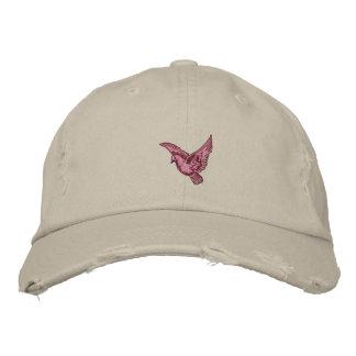 Gorra apenado bordado para mujer del pájaro rosado gorra bordada