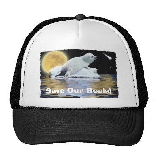 Gorra ártico del partidario de la fauna de la foca