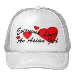 Gorra asiático del chica de los amores