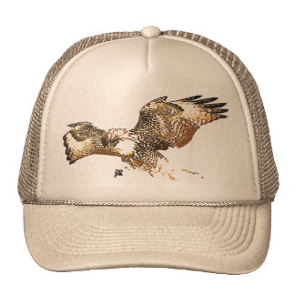 Gorra atado rojo del halcón