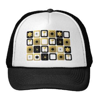 Gorra atractivo retro del camionero del oro