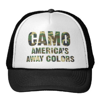 Gorra ausente del camionero de los colores de Camo