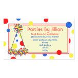 Gorra azul amarillo rojo del fiesta del lunar del  plantillas de tarjeta de negocio