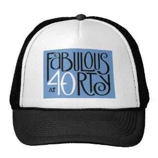 Gorra azul blanco negro 40 fabulosos