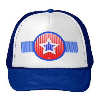Gorra azul blanco rojo del patriota de la raya de