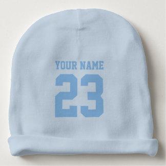 Gorra azul de encargo de la gorrita tejida del gorrito para bebe