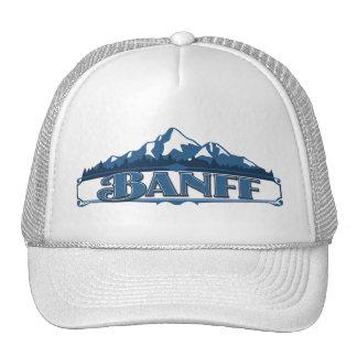 Gorra azul de la montaña de Banff