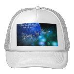 Gorra azul de la radio de la red de la galaxia