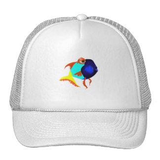 Gorra azul de los pescados de la diversión