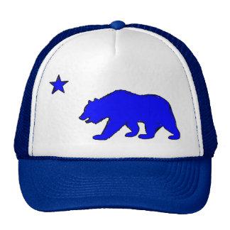 Gorra azul de neón del oso de la bandera de Califo