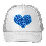 Gorra azul del corazón de las escarapelas