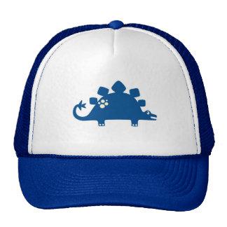 Gorra azul impresionante del camionero del dinosau