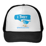 gorra azul lindo del pájaro del gorjeo del iTweet