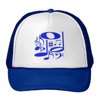 Gorra azul musical