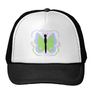 Gorra azul y verde bonito de la mariposa