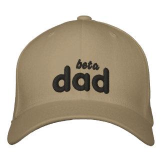 Gorra beta del kahki del negro del papá gorras de béisbol bordadas