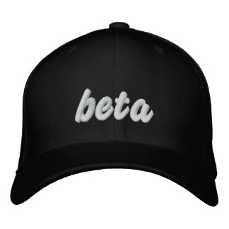 Gorra beta del negro gorros bordados