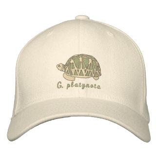 Gorra birmano de la tortuga de la estrella (bordad gorra de béisbol bordada