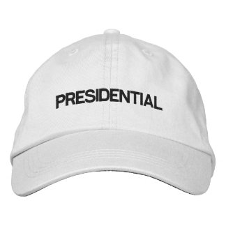 Gorra blanco ajustable presidencial gorra de béisbol
