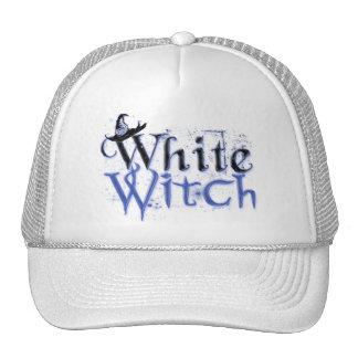 Gorra blanco de la bruja