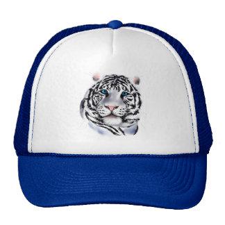 Gorra blanco de la cara del tigre