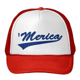 Gorra blanco de Merica Swoosh y azul rojo del cam