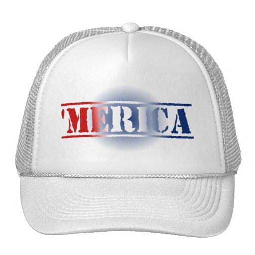 'Gorra blanco de MERICA y azul rojo Gorras De Camionero