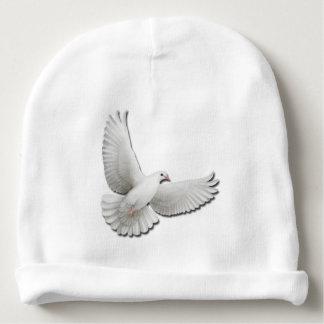 Gorra blanco del bebé de la paloma de la paz que gorrito para bebe