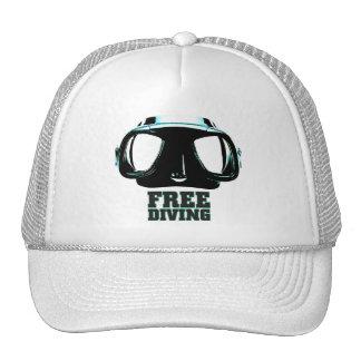 Gorra blanco del camionero de Freediving