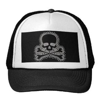 Gorra blanco del camionero del béisbol del cráneo