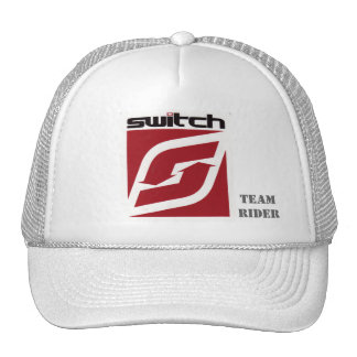 Gorra blanco del camionero del interruptor