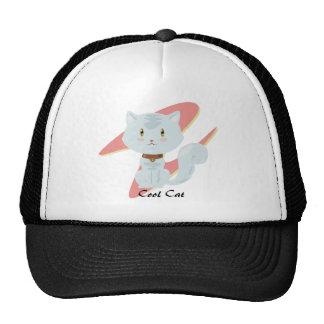 Gorra blanco del gato