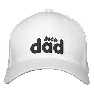 Gorra blanco del negro del papá beta posterior de  gorras bordadas