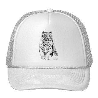 Gorra blanco majestuoso del tigre